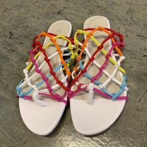 Brand New RAYE Rainbow Sandals